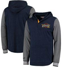 9735f05fe06 Cleveland Cavaliers Mitchell   Ness Mid-Season Long Sleeve Hooded T-Shirt -  Navy