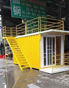 Great little studio container home. The price is for the container house. CONTAINER HOUSE HAS BEEN USED AS. 3 light and 3 power plug . Container Coffee Shop, Container Shop, Container Cabin, 20ft Container, Container Plants, Container Home Designs, Building A Container Home, Container Buildings, Casas Containers