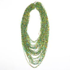 Maasai Glass Bead Necklace Green and Yellow Extra Long - Lov'edu - Ethical, Fair Trade & Handmade Accessories, Jewellery, Home Decor & Giftshttp://www.lovedu.co.uk/collections/organic-handmade-necklaces/products/maasai-glass-bead-necklace-green-and-yellow-extra-long