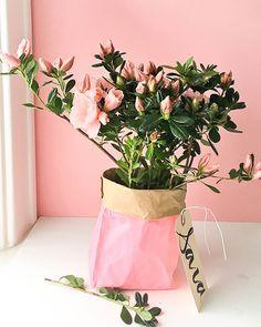 the easiest flower vase diy ever