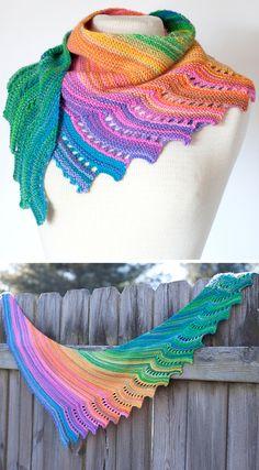 Rainbows - Free Pattern - Stricken ist so einfach wie 3 Das Stricken läuf. Rainbows - Free Pattern - Knitting is as easy as 3 Knitting boils down to three essential skills. Knitting Patterns Free, Knit Patterns, Free Knitting, Free Pattern, Pattern Design, Crochet Shawl Free, Knitted Shawls, Knit Crochet, Chunky Crochet