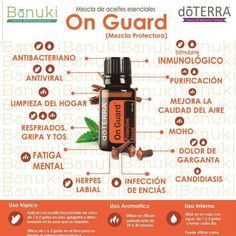 On Guard Protective Blend (Mezcla Protectora) Doterra Essential Oils, Essential Oil Diffuser, Essential Oil Blends, On Guard Oil, Doterra Breathe, Doterra Recipes, Young Living Oils, Aromatherapy Oils, Diffuser Blends