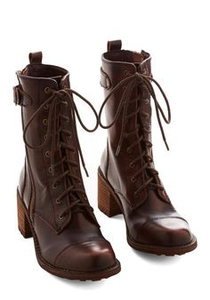 Wildlife Biologist Boot. When you move from field work to indoor research, express your earthy sensibilities with these dark brown calf-high boots!