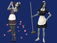 Default replacement of afbodydressmaid - replaces the AF maid outfit. Mesh by Sodapou. Compressed with jfade's Compressorizer Download