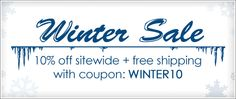 Winter Sale - Save an Extra 10% Off Sitewide + Free Shipping.