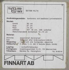 Lauritz.com - Furniture - Olli Mannermaa, Finnart, Kilta, stolar, ett par - SE, Stockholm, Slakthusgatan