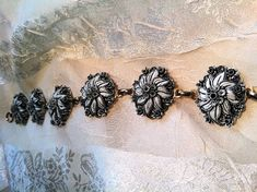 Gorgeous Bracelet Antique Vintage Hand Carved by NorthCoastCottage