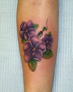 20 Best Violet Flower Tattoo Meaning Images Violet Flower Tattoos