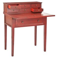 I pinned this Maillane Fold-Down Desk in Cherry from the Colville Studios event at Joss and Main!