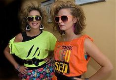 80s Fashion For Women T Shirts Bright cut up tshirts