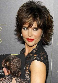 Lisa Rinna - Formal look shaggy style