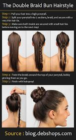 Beauty Tutorials: Double Braid Bun Hair Tutorial