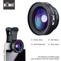 Buy KIWI Smartphone Lens Wide Angle Macro Cell Phone Lenses 15x for Iphone 6/7/7plus/8/8x Samsung Sony Mobile Phone #KIWI #Smartphone #Lens #Wide #Angle #Macro #Cell #Phone #Lenses #Iphone #6/7/7plus/8/8x #Samsung #Sony #Mobile