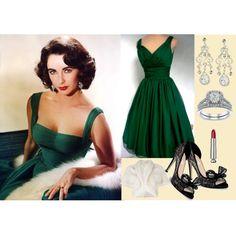 Elizabeth's emerald dress