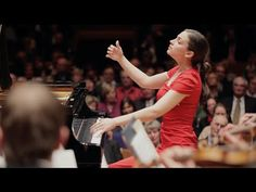 Pianist Olga Scheps performing the 2nd movement from Chopin's Piano Concerto No.1. Recorded live at Tonhalle Düsseldorf, January 22, 2014.