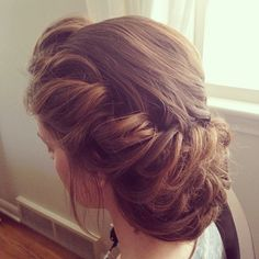This hairstyle is for those dressy occasions! Such as prom or a wedding.