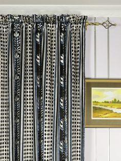Maia Antique Damask Rod Pocket Velvet Curtain Heading Style Curtain Headings, Velvet Curtains, Geometric Patterns, Rod Pocket, Damask, Antiques, Floral, Home Decor, Style