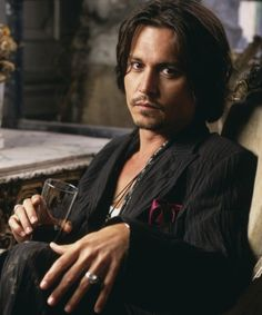 Johnny Depp looking incredibly sexy, as always.