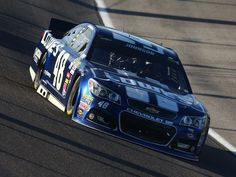 Jimmie Johnson in action during the Ford EcoBoost 400 at Homestead-Miami Speedway.  11/17/2013