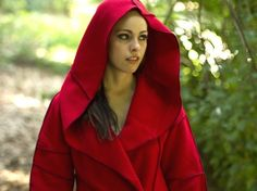 ready-to-ship Recycled Fleece Jacket, Coat  with Hood, vegan, plus-sizes available, Xmittens. $179.00, via Etsy.