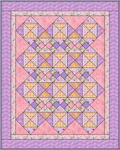 Easy Vintage Look Baby Quilt Pattern