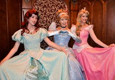 Ariel from The Little Mermaid, Cinderella from self-titled and Aurora from Sleeping Beauty