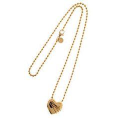 Tiffany & Co. Cupid's Heart Gold Bead Chain Pendant