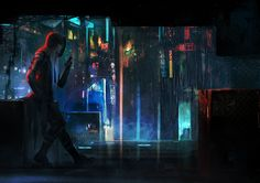 Title: Cyberpunk Artist: Anndr http://anndr.deviantart.com/ Galaxy Artists: showcasing artwork in the Sci-Fi genre. Follow for daily cyber-updates