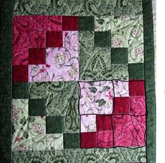 Detail of double 4-patch block from Rita's Quilt from The Secret Life of Mrs. Meatloaf.