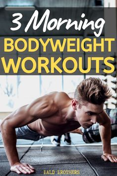 3 Of the best morning workouts that anyone can do. These morning workouts are perfect for men who don't have time for the gym. Home Workout Men, Workout Routine For Men, Gym Workout Tips, At Home Workouts, Exercise Routines, Workout Exercises, Dumbbell Workout, Workout Videos, Mens Fitness