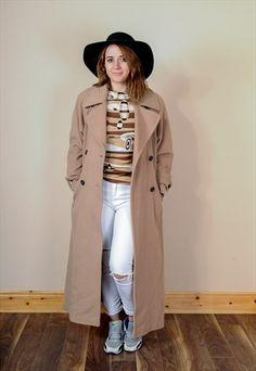 Vintage Oversized Camel Coat