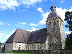 Kangasalan kirkko Grave Monuments, Graveyards, Cathedrals, Tower Bridge, Buildings, Folk, Costumes, Architecture, Travel