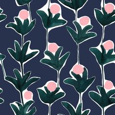 The Print-Focused Textiles of Cassie Byrnes - Design Milk Textiles, Textile Patterns, Textile Prints, Print Patterns, Lino Prints, Floral Patterns, Block Prints, Surface Pattern Design, Pattern Art
