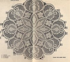 File Crochet Doilies Floral Leaf Design Large Small Mail Order Design 543