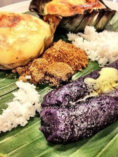 Bibingka and Puto Bumbong. Pinoy food :)