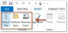 Attach files to meeting appointments