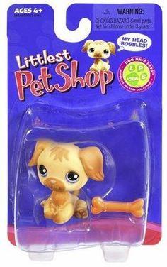 Littlest Pet Shop LPS #286 Golden Retriever W Bone Single Dog Days Pets by Hasbro. $12.99