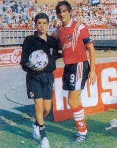 Enzo y un joven D'alessandro.