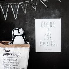 A Little Lovely Company polštář tučňák
