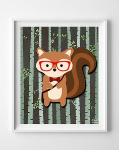 Woodland Squirrel Brown Background posters by Inkist Prints! This unique nursery decor print will make a great addition to any nursery and kids room. It would also be a great gift for baby shower and birthday.