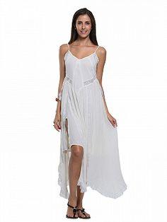 Shop White Lace Trim Layered Detail Cami Chiffon Dress from choies.com .Free shipping Worldwide.$53.01