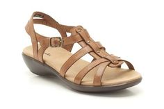44bc1264acd1 Womens Casual Sandals - Roza Jaida in Tan Leather from Clarks shoes