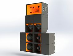 Pure Groove speaker stack. Company created by ex-nasa engineer, stack is maybe 11 or 12 feet tall and 7 wide yet provides sound usually only achieved by systems twice its size, only better quality.