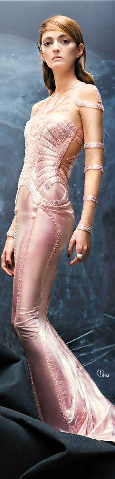 #Atelier #Versace ● #Couture Spring #2014  http://www.pinterest.com/trishahoque/divine-dresses-haute-cotoure/