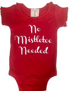 This Red Christmas Baby Girl Bodysuit has such a sweet saying that it is the perfect motto for your darling baby girl during Christmastime.