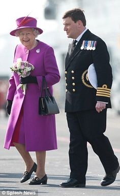 Taking an interest: The Queen has now visited HMS Ocean on four separate occasions 20 Mar 2015