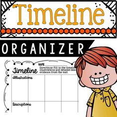 Timeline! This timeline creates a more detailed task for your students. They must provide an illustration along with a description. My students LOVE doing this activity! Product by Education Lahne