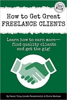 How to Get Great Freelance Clients: Learn to earn more #freelancewriter #contentmarketing http://www.amazon.com/gp/product/B00MH8DJXS/ref=as_li_tl?ie=UTF8&camp=1789&creative=9325&creativeASIN=B00MH8DJXS&linkCode=as2&tag=tersimjr-20&linkId=QTAHLGKDEMHYNALA&utm_campaign=coschedule&utm_source=pinterest&utm_medium=Terry