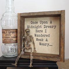 Halloween party decor, Poe, funny Halloween display, bar decor, haunted house…