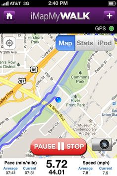 iMapMyWALK is a free app that helps you track your distance and map your walking routes. So useful!